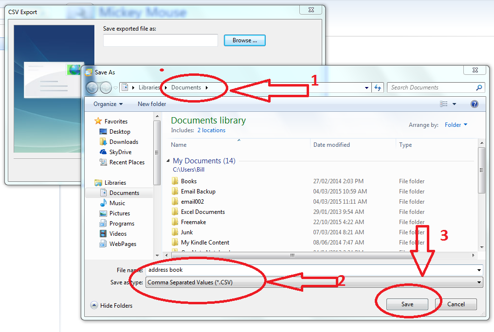 Windows Live Mail - Export Contacts and Import into GMAIL