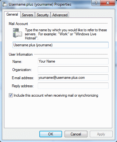 Access from windows live mail.